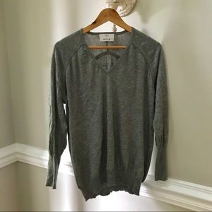 Allude gray oversized sweater 100% cashmere L M